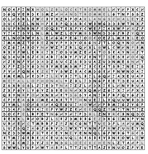 Arbeitsblatt Orff Instrumente Suchsel Mit 14 Versteckten