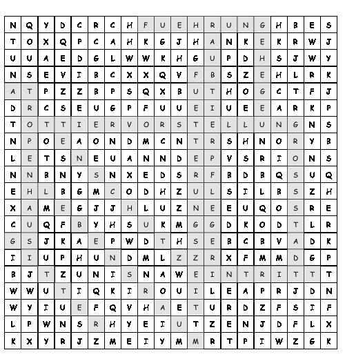 Arbeitsblatt Rund Um Den Zoo Suchsel Mit 12 Versteckten Wörtern