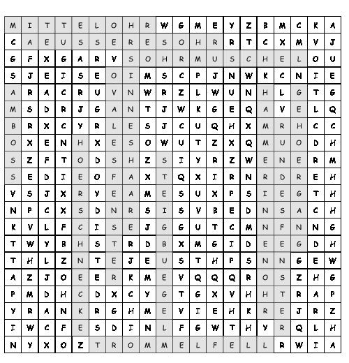 Arbeitsblatt Das Ohr Suchsel Mit 13 Versteckten Wortern