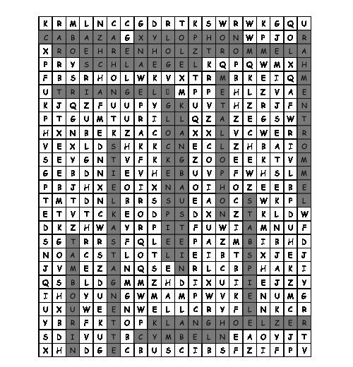 Arbeitsblatt Orff Instrumente Suchsel Mit 14