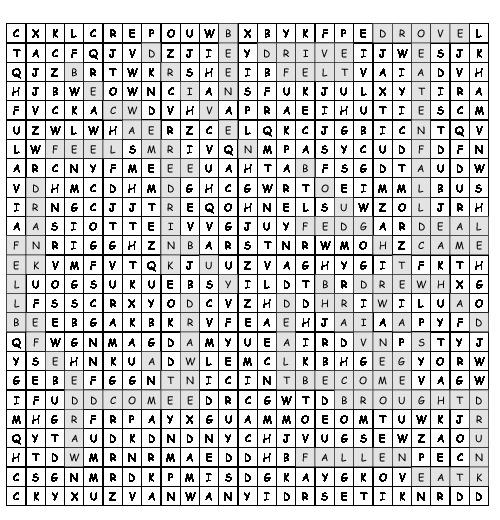 arbeitsblatt irregular verbs suchsel mit 34 versteckten w rtern. Black Bedroom Furniture Sets. Home Design Ideas